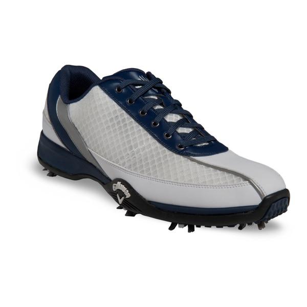 Callaway Mens Chev Aero White/ Blue Golf Shoes