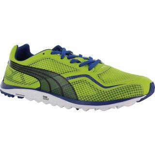 Puma Mens Faas Lite Mesh Spikeless Lime Green/ Monaco Blue Golf Shoes