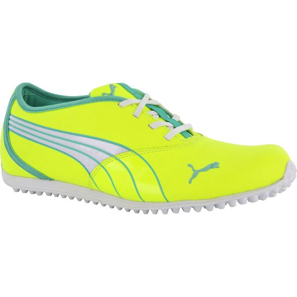 Puma Womens Monolite Spikeless Fluorescent Yellow/ Electric Green Golf Shoes