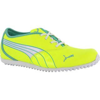 Puma Womens Monolite Spikeless Fluorescent Yellow/ Electric Green Golf Shoes
