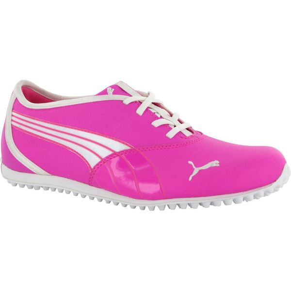 Puma Womens Monolite Spikeless Fluorescent Pink/ White Golf Shoes