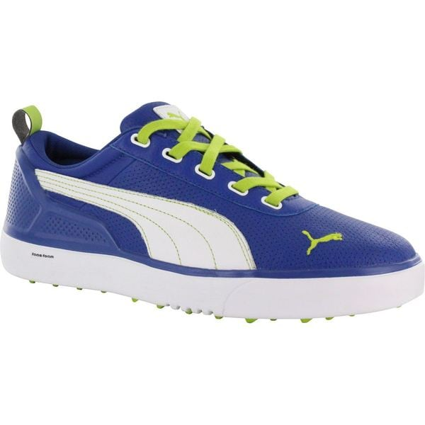 Puma Mens Monolite Spikeless Monaco Blue/ Lime Green Golf Shoes