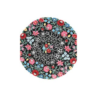 nuLOOM Hand-hooked Country Floral Multi Round Rug (6' x 6')