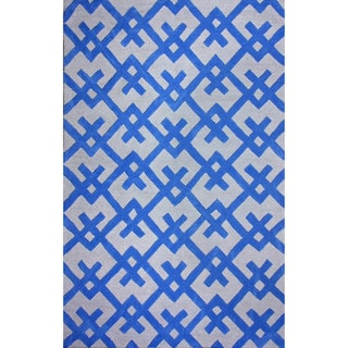 nuLOOM Hand-tufted Modern Indoor/ Outdoor Blue Rug (8'6 x 11'6)