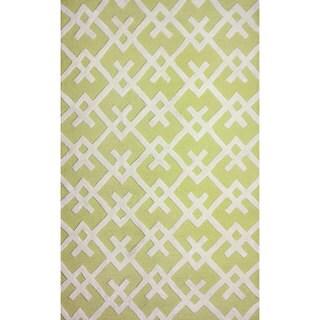 nuLOOM Hand-tufted Modern Indoor/ Outdoor Yellow Rug (7'6 x 9'6)