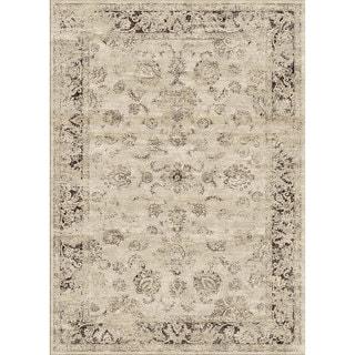 nuLOOM Oriental Vintage Viscose Ashton Natural  Rug (7'8 x 9'6)