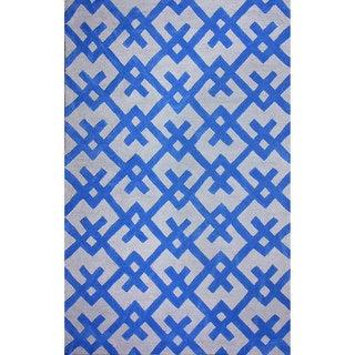 nuLOOM Hand-tufted Modern Indoor/ Outdoor Blue Rug (5' x 8')