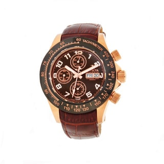 Invicta Men's BM-IN10943 Slightly Blemished 'Speedway' Brown Leather Strap Watch
