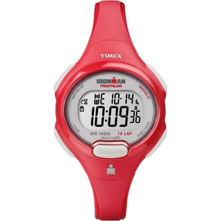 Timex Women's T5K783 Ironman Traditional 10-lap Mid-size Coral Watch