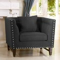 Baxton Studio Stapleton Gray Linen Modern Accent Chair