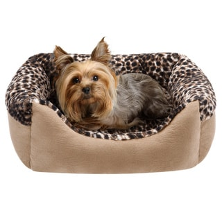 Friends Forever Cuffed Rectangular Cuddler Pet Bed