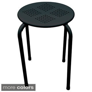 Powder-coated Metal Indoor/ Outdoor Stool Side Table (Set of 2)