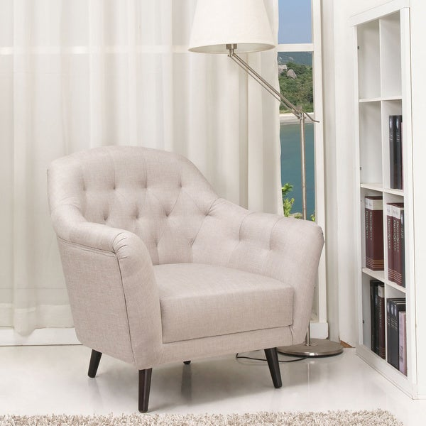 Aurora Latte Wood Beige Armchair