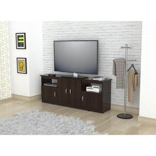Inval 60-inch Espresso-wenge Flat Panel TV Stand