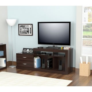 Inval 46-inch Espresso-wenge Functional Flat Panel TV Stand