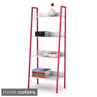 4-tier Metal Angled Ladder Shelving