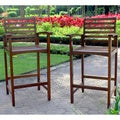 International Caravan Maine Acacia Hardwood Outdoor Bar-height Armchairs (Set of 2)