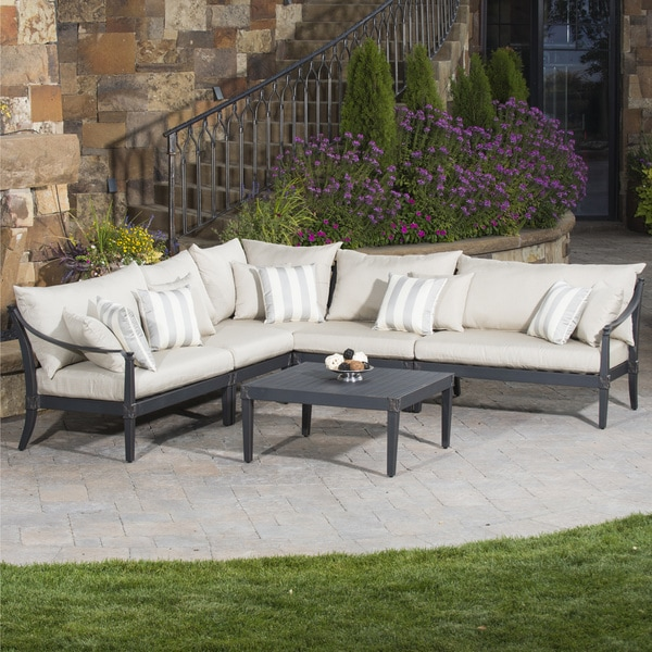 RST Brands Astoria Aluminum 6-piece Outdoor Corner Sectional Set with Cushions