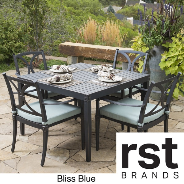 rst brands astoria aluminum 5 piece outdoor cafe dining set with