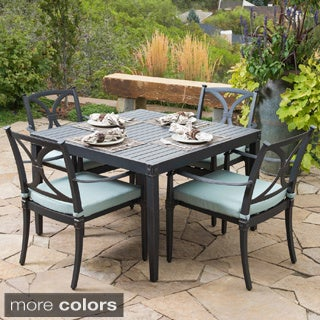 Astoria Aluminum 5-piece Outdoor Cafe Dining Set with Cushions