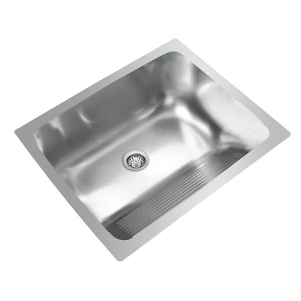 Laundry Room Undermount Sinks : Ukinox D610.457 Single Basin Stainless Steel Dual Mount Laundry Sink ...