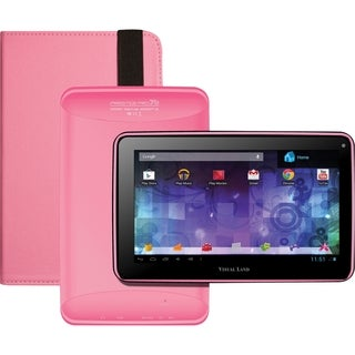Visual Land Prestige Pro 7D with Pro Folio Bundle (Pink)