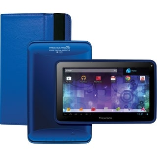 Visual Land Prestige Pro 7D with Pro Folio Bundle (Royal Blue)