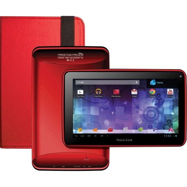 Visual Land Prestige Pro 7D with Pro Folio Bundle (Red)