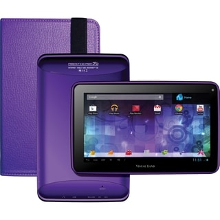 Visual Land Prestige Pro 7D with Pro Folio Bundle (Purple)