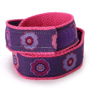 Superflykids Hook and Loop Plum Crazy Kids Belt