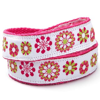 Superflykids 'Crazy Daisy' Pink Flower Printed Hook-and-loop Belt