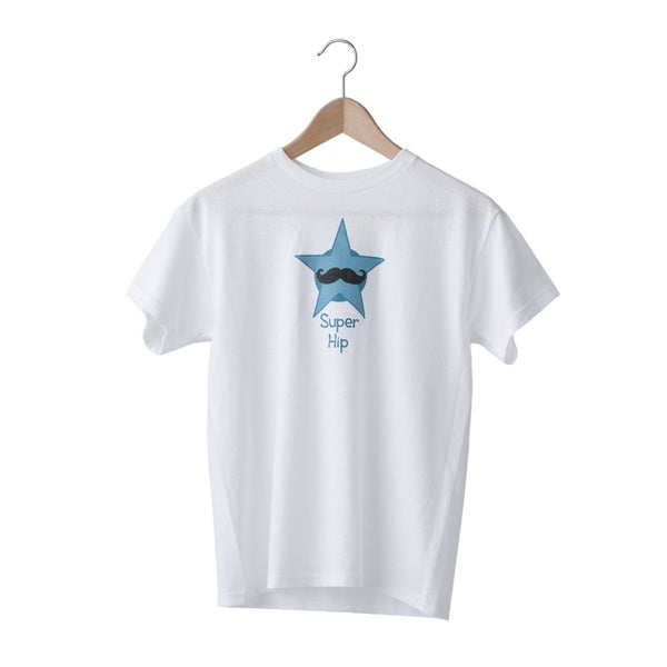 Superflykids 'Super Hip' White Screenprinted Cotton T-shirt