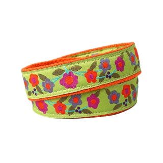 Superflykids 'Enchanted Garden' Green and Orange Printed Hook-and-loop Belt