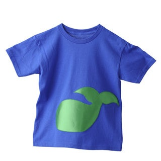 Superflykids Blue Plush Whale Cotton T-shirt