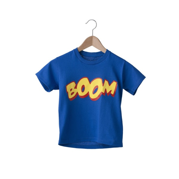 Superflykids 'Boom' Blue and Yellow Cotton T-shirt