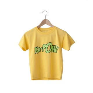 Superflykids 'Kapow' Yellow and Lime Green Printed Cotton T-shirt