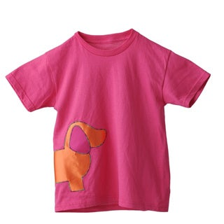 Superflykids Hot Pink Plush Dog Cotton T-shirt