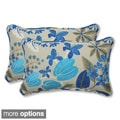 Outdoor Fancy A Floral Rectangular Throw Pillow (Set of 2)