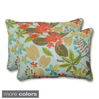 Outdoor Fancy A Floral Oversized Rectangular Throw Pillow (Set of 2)