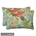Outdoor Fancy A Floral Oversized Rectangular Throw Pillow (Set of 2)