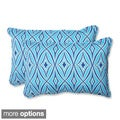 Outdoor Centro Oversized Rectangular Geometric Throw Pillow (Set of 2)