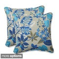 Outdoor Fancy A Floral 18.5-inch Throw Pillow (Set of 2)