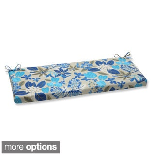Outdoor Fancy A Floral Bench Cushion with Ties