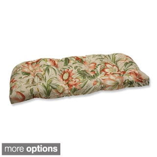 Outdoor Botanical Glow Tropical Wicker Loveseat Cushion