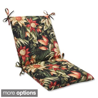 Outdoor Botanical Glow Squared Corners Chair Cushion with Ties