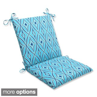 Outdoor Centro Squared Corners Geometric Chair Cushion with Ties