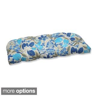 Outdoor Fancy A Floral Wicker Loveseat Cushion