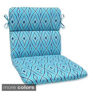 Pilllow Perfect Outdoor Centro Rounded Corners Chair Cushion with Ties