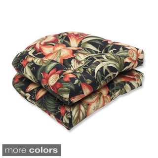 Outdoor Botanical Glow Wicker Seat Cushion (Set of 2)