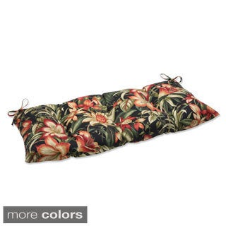 Pillow Perfect Outdoor/ Indoor Botanical Glow Tiger Stripe Swing/ Bench Cushion